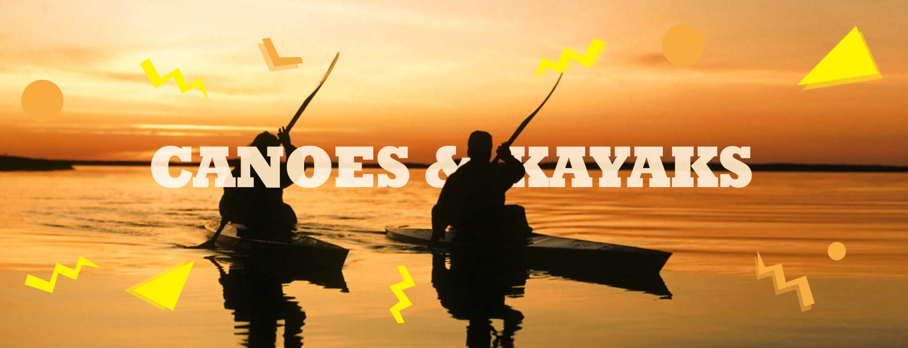 Canoes & Kayaks at Fun Rentals